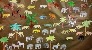 Großes Wandbild im Flur der 1. Klassen.